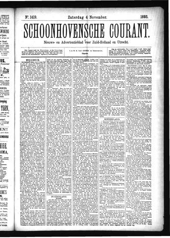 Schoonhovensche Courant 1893-11-04