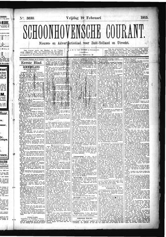 Schoonhovensche Courant 1915-02-19