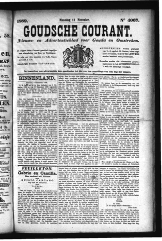 Goudsche Courant 1889-11-11