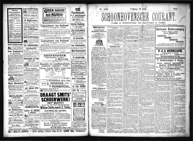 Schoonhovensche Courant 1918-07-19