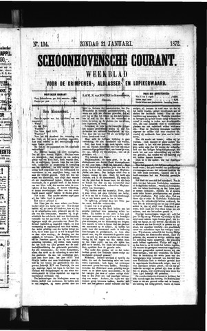 Schoonhovensche Courant 1872-01-21