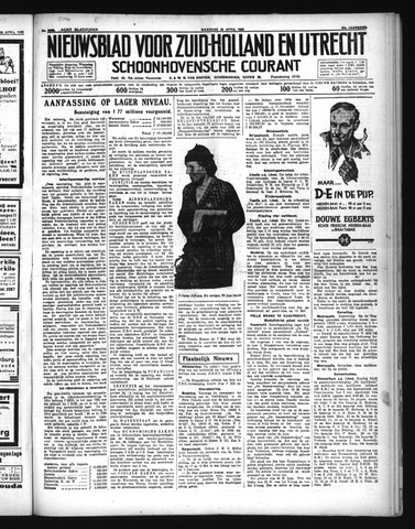 Schoonhovensche Courant 1935-04-29