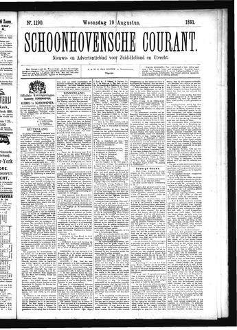 Schoonhovensche Courant 1891-08-19