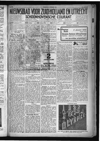 Schoonhovensche Courant 1931-12-31