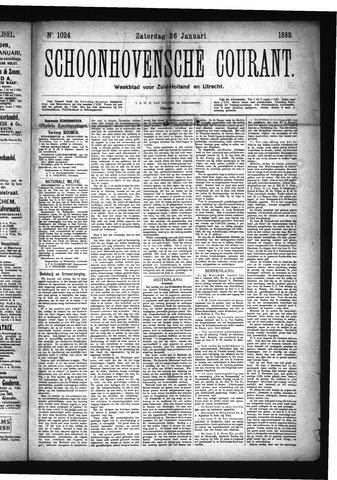 Schoonhovensche Courant 1889-01-26