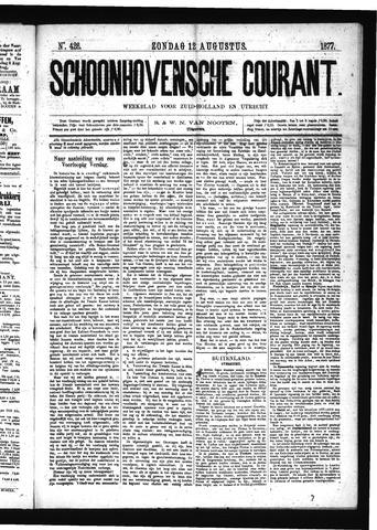 Schoonhovensche Courant 1877-08-12