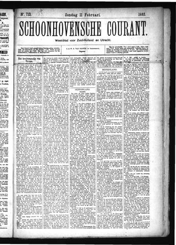 Schoonhovensche Courant 1883-02-11