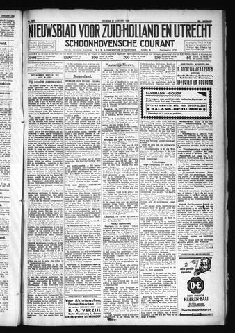 Schoonhovensche Courant 1930-01-31