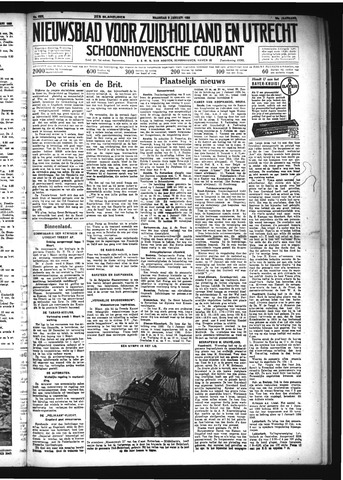 Schoonhovensche Courant 1934-01-08