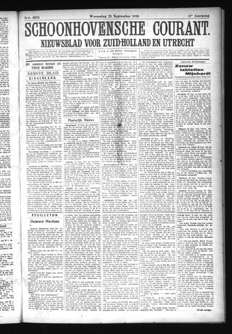 Schoonhovensche Courant 1925-09-23