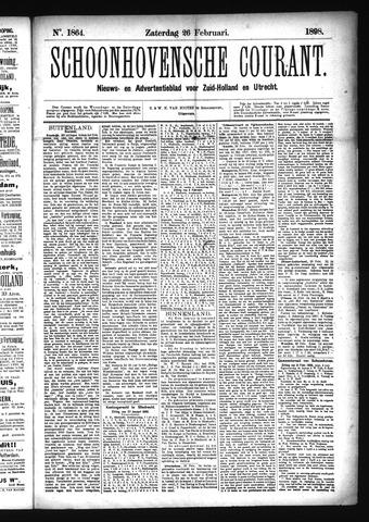 Schoonhovensche Courant 1898-02-26