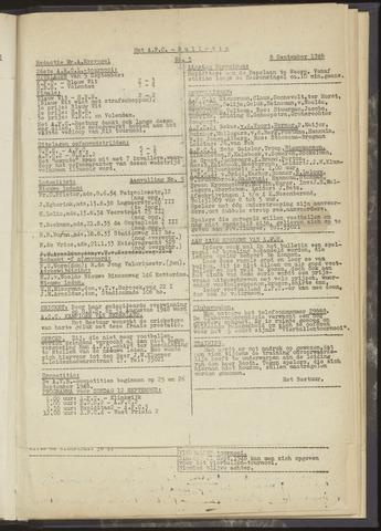 Bulletins (vnl. opstellingen) 1948-09-08