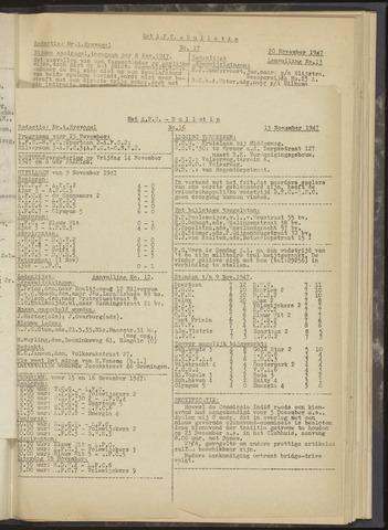 Bulletins (vnl. opstellingen) 1947-11-13