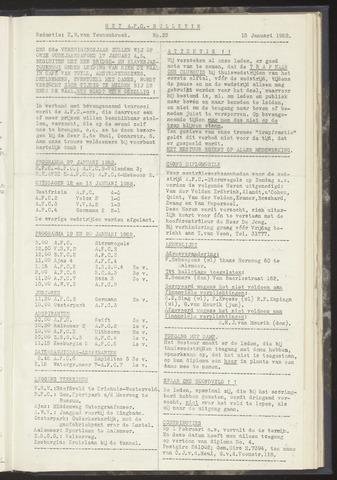 Bulletins (vnl. opstellingen) 1952-01-15
