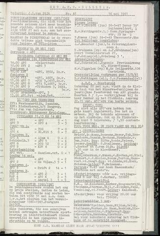 Bulletins (vnl. opstellingen) 1961-05-17