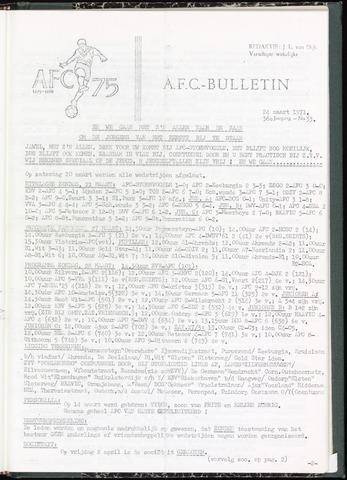 Bulletins (vnl. opstellingen) 1971-03-24