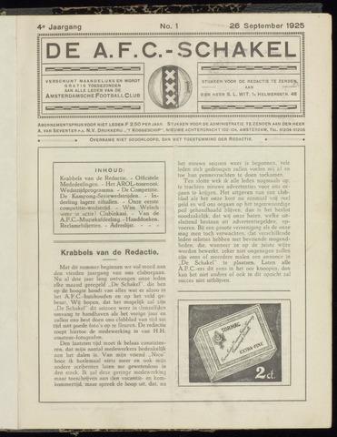 Schakels (clubbladen) 1925-09-26