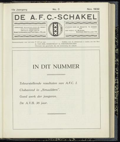 Schakels (clubbladen) 1932-11-01