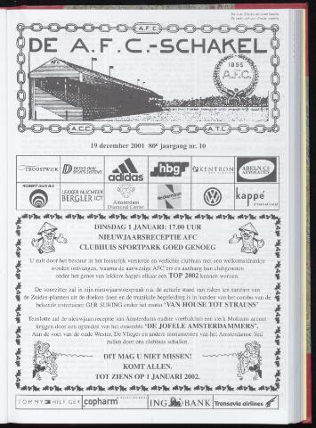 Schakels (clubbladen) 2001-12-19