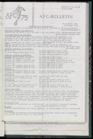 Bulletins (vnl. opstellingen) 1968-09-18