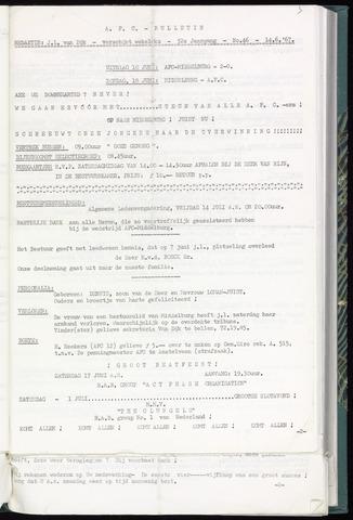Bulletins (vnl. opstellingen) 1967-06-14