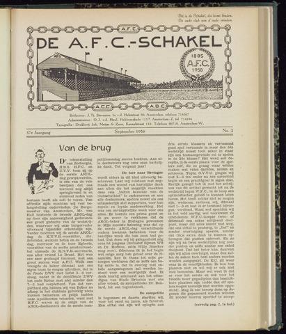 Schakels (clubbladen) 1958-09-01