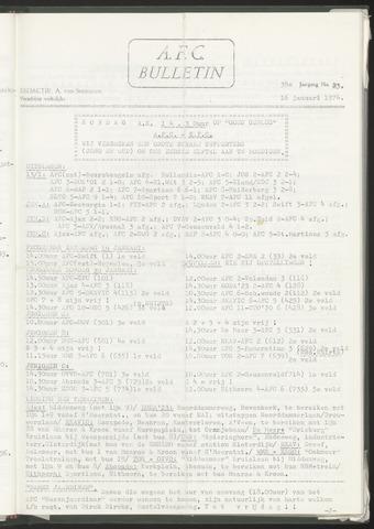 Bulletins (vnl. opstellingen) 1974-01-16