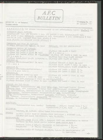 Bulletins (vnl. opstellingen) 1973-01-24