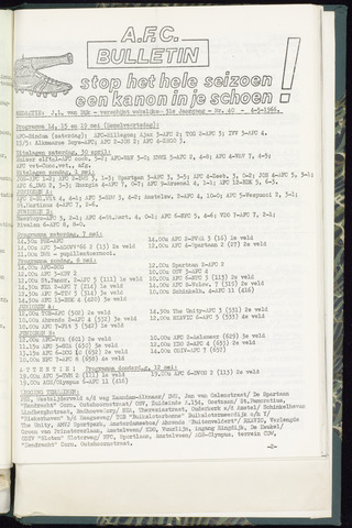 Bulletins (vnl. opstellingen) 1966-05-04