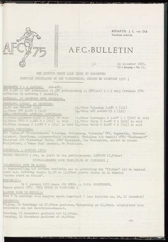Bulletins (vnl. opstellingen) 1969-12-24
