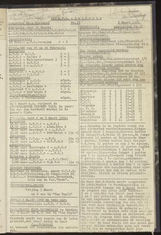 Bulletins (vnl. opstellingen) 1950-03-02