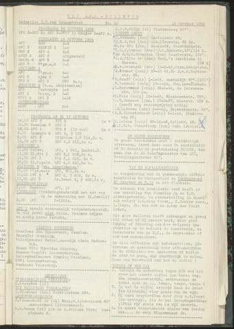 Bulletins (vnl. opstellingen) 1954-10-12