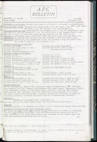 Bulletins (vnl. opstellingen) 1967-09-12