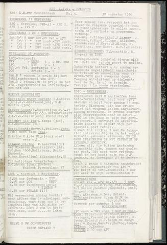 Bulletins (vnl. opstellingen) 1960-08-30
