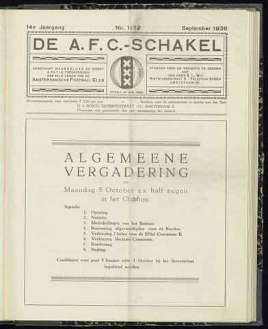 Schakels (clubbladen) 1936-09-01