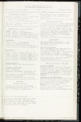 Bulletins (vnl. opstellingen) 1962-01-09