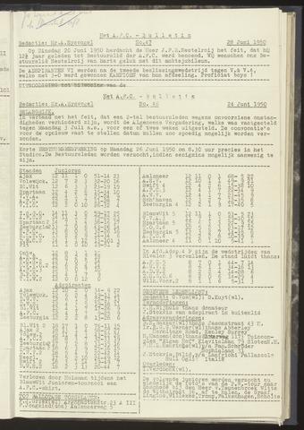 Bulletins (vnl. opstellingen) 1950-06-24
