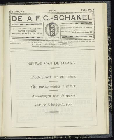 Schakels (clubbladen) 1934-02-01