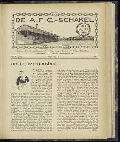 Schakels (clubbladen) 1947-09-01