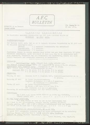 Bulletins (vnl. opstellingen) 1973-05-23