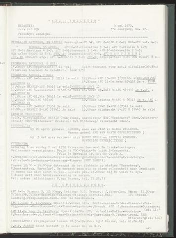 Bulletins (vnl. opstellingen) 1972-05-03