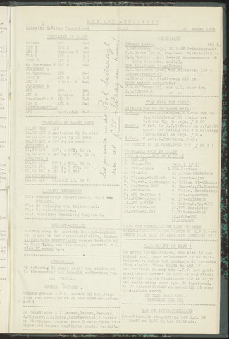 Bulletins (vnl. opstellingen) 1956-03-20
