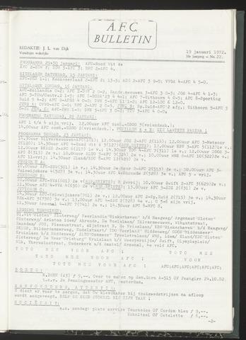 Bulletins (vnl. opstellingen) 1972-01-19