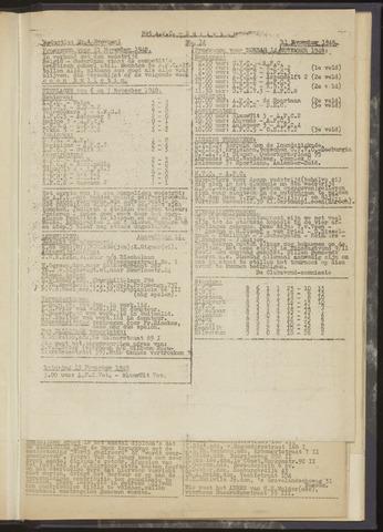 Bulletins (vnl. opstellingen) 1948-11-11