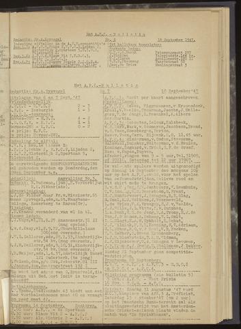 Bulletins (vnl. opstellingen) 1947-09-10