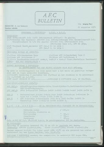 Bulletins (vnl. opstellingen) 1974-08-21