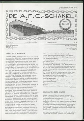 Schakels (clubbladen) 1981-08-19