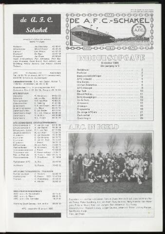 Schakels (clubbladen) 1985-10-09
