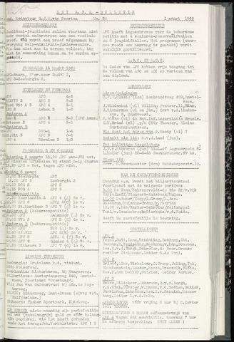 Bulletins (vnl. opstellingen) 1960-03-01
