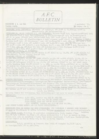 Bulletins (vnl. opstellingen) 1971-09-08